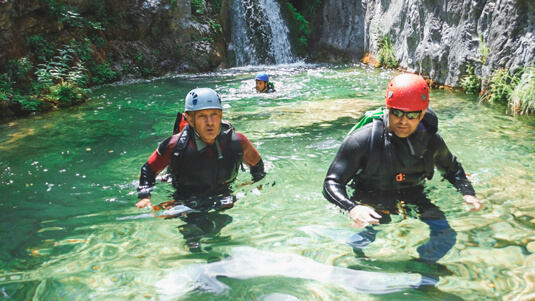 Canyoning am Olymp